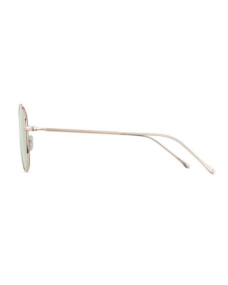 Illesteva Dorchester Mirrored Aviator Sunglasses
