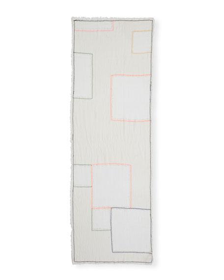 Eileen Fisher Patchwork Organic Cotton Wrap