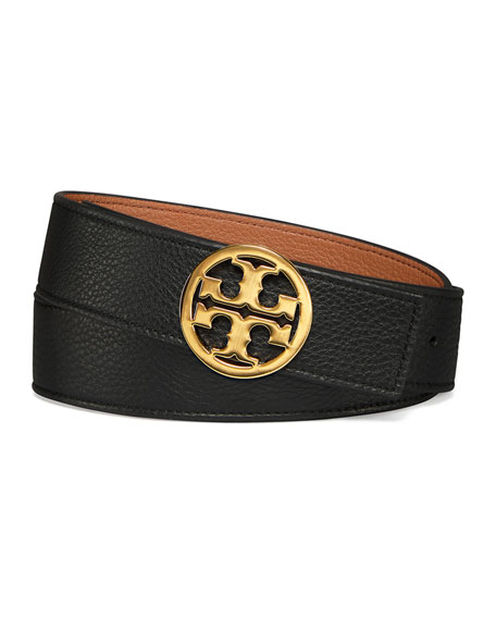 "Tory Burch Reversible 1.5"" Logo-Buckle Belt"