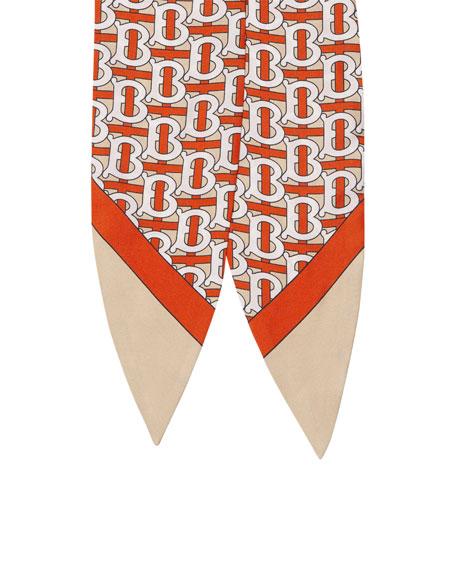 Burberry Monogram Print Silk Hair Scarf