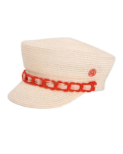 Abby Woven Newsboy Hat