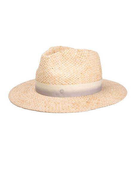 Maison Michel Rico Woven Raffia Fedora Hat