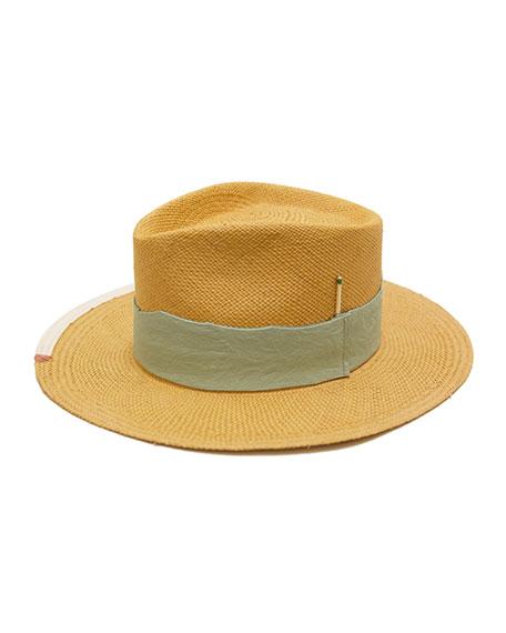 Nick Fouquet Playa Verde Straw Fedora Hat