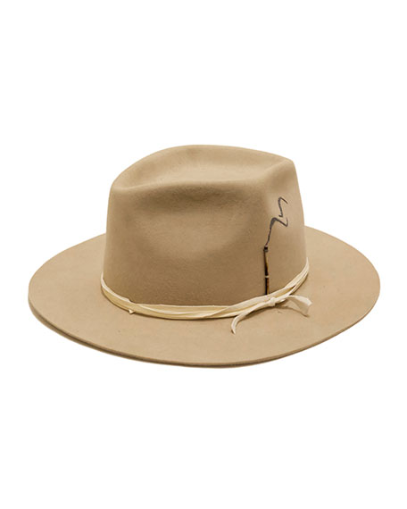 Nick Fouquet Smoking Beaver Felt Fedora Hat