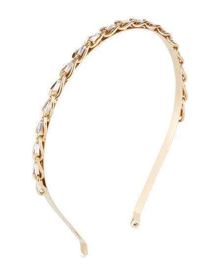 Rosantica Slim Curb Chain Headband w/ Crystal Trim