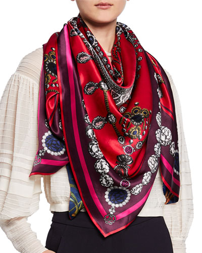 Jessica + Josephine Double Sided Silk Scarf