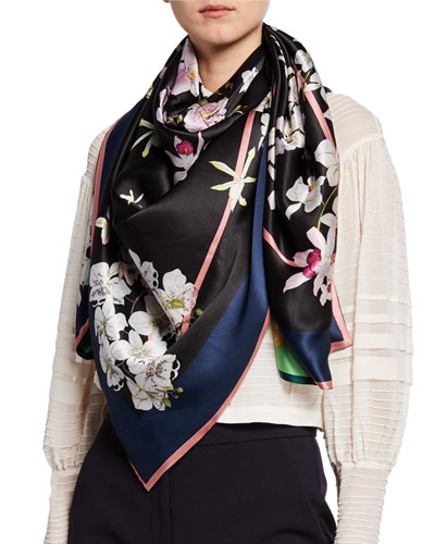 Janet Double Sided Silk Scarf