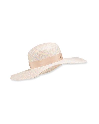Pastel Straw Floppy Hat