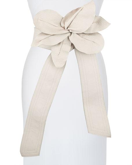 Johanna Ortiz Leather Flower Belt