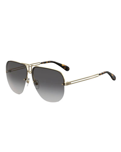 Aviator Cutout Metal Sunglasses