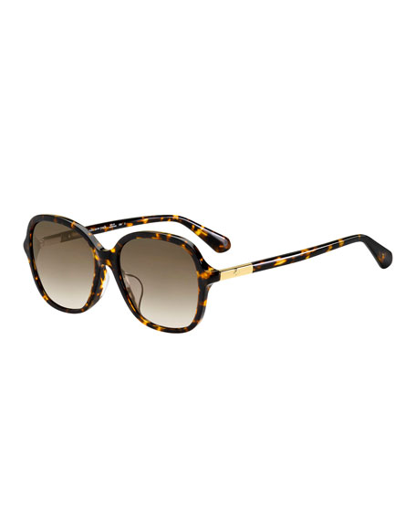 a67f9cdc083 Oliver Peoples Irven Faceted Round Acetate Sunglasses