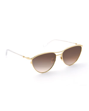 72af3dd4e479 KREWE Women s Sunglasses  Round   Aviator Glasses at Neiman Marcus