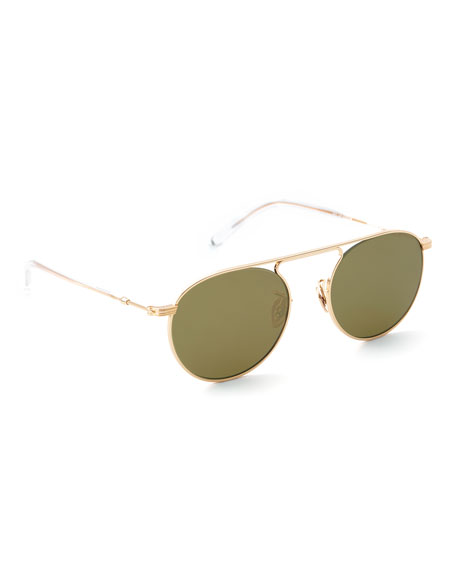 Krewe Sunglasses RAMPART AVIATOR SUNGLASSES