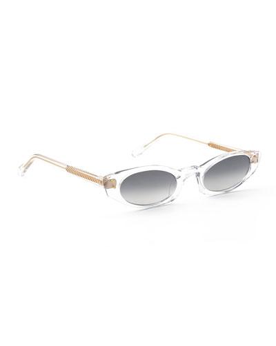 Fern Mirrored Cat-Eye Sunglasses