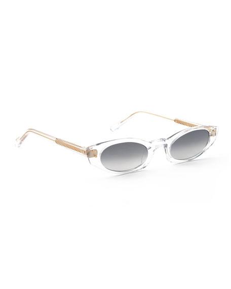 Krewe Sunglasses FERN MIRRORED CAT-EYE SUNGLASSES