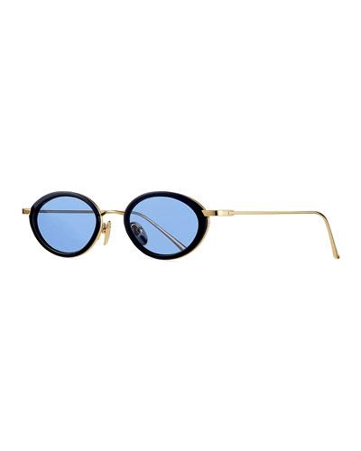 Boom! Polycarbonate & Metal Oval Sunglasses