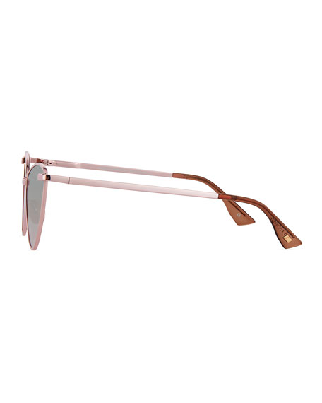Le Specs Nero Cat-Eye Mirrored Sunglasses