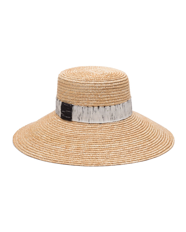 07335c8cf Annabelle Straw Sun Hat w/ Contrast Trim