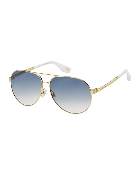 The Marc Jacobs Mirrored Metal Aviator Sunglasses