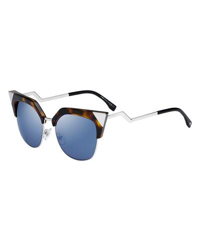 d7fd5517159c Iridia Mirrored Cat-Eye Sunglasses