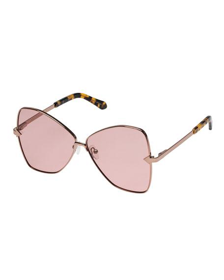 Karen Walker Queen Metal Butterfly Sunglasses