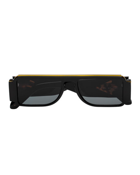 Karen Walker Grand Master Plastic & Metal Rectangle Sunglasses