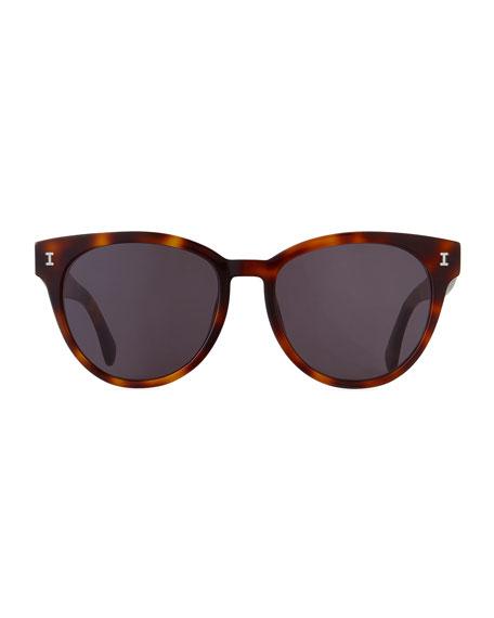 Illesteva York Acetate Butterfly Sunglasses