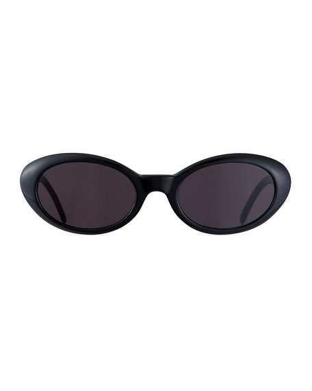 Image 2 of 3: Illesteva Seattle Oval Acetate Sunglasses