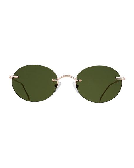 Illesteva Nicotera Rimless Round Sunglasses