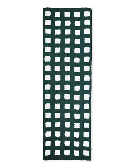 Eskandar Tie-Dye Squared Silk Scarf