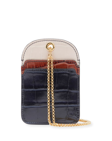 Chloe Walden Colorblock Card Case on Chain