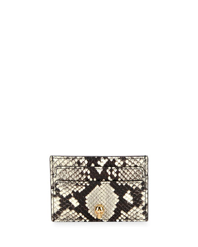 Python-Print Leather Card Case