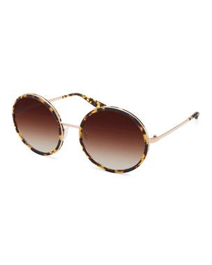 9d97c0c43b13 Designer Round Sunglasses at Neiman Marcus