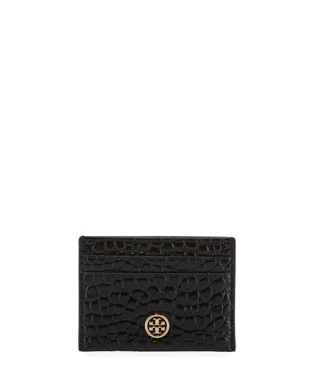 Tory Burch Cases Robinson Embossed Card Case