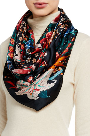 Liberty London Haru Silk Scarf