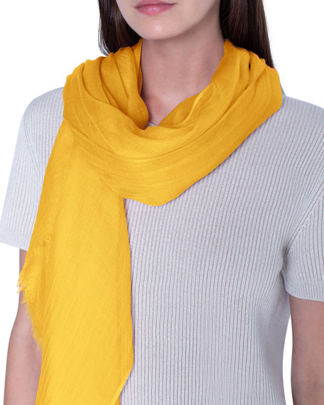 Image 3 of 3: Akris Solid Cashmere-Silk Scarf