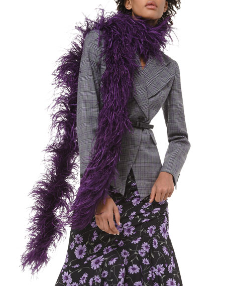 Michael Kors Collection Ostrich Feather Boa Scarf