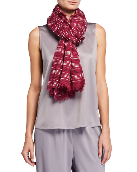 Eileen Fisher Rows Organic Cotton Wrap