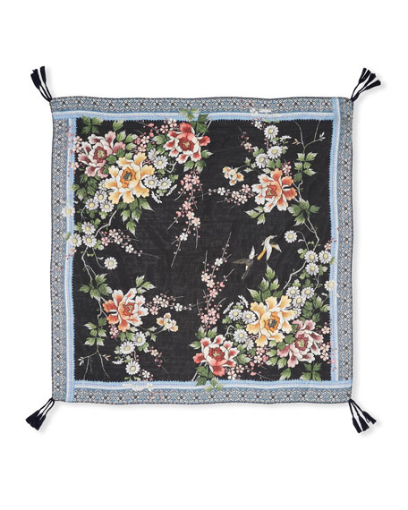 Johnny Was Vintage Japanese Print Scarf