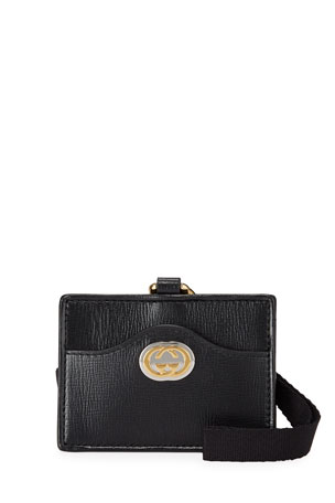 Gucci Marina GG Leather Card Case Wristlet