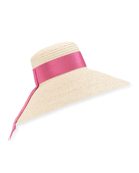 Image 1 of 2: Mirabel Large Brim Straw Hat