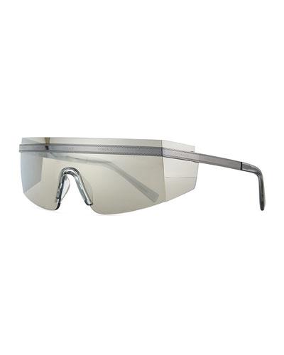 Shield Wrap Logo Sunglasses