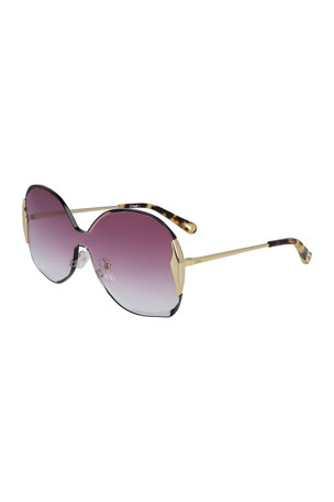 Chloe Curtis Gradient Shield Sunglasses