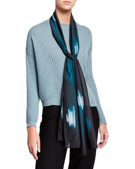 Eileen Fisher Shibori Dash Silk Scarf
