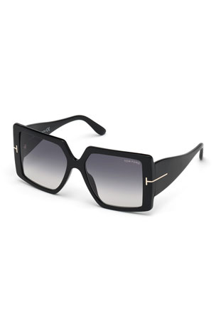 TOM FORD Quinn Square Acetate Sunglasses