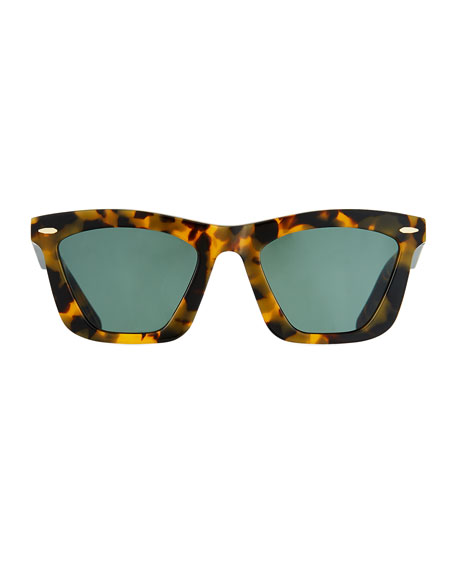 Image 3 of 3: Alexandria Cat-Eye Acetate Sunglasses
