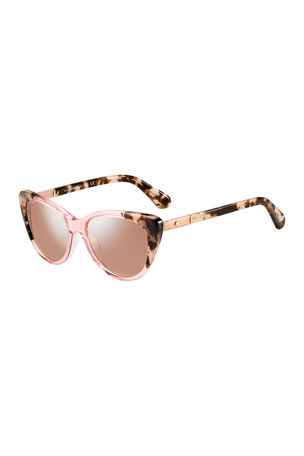 kate spade new york sherylyn two-tone cat-eye sunglasses
