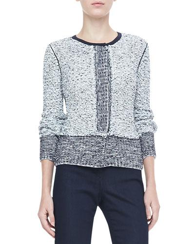 Rena Lange Tweed Knit Cardigan