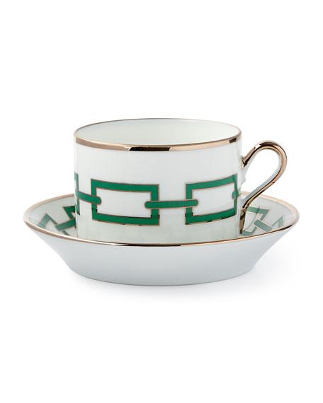 Richard Ginori 1735 Cantene Green Teacup