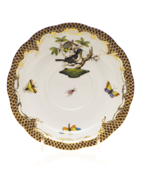 Herend Rothschild Bird Green Border Salad Plate #4